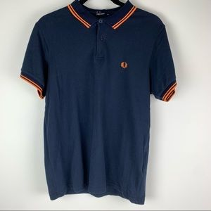 Fred Perry Navy Collared Golf Shirt Size XL